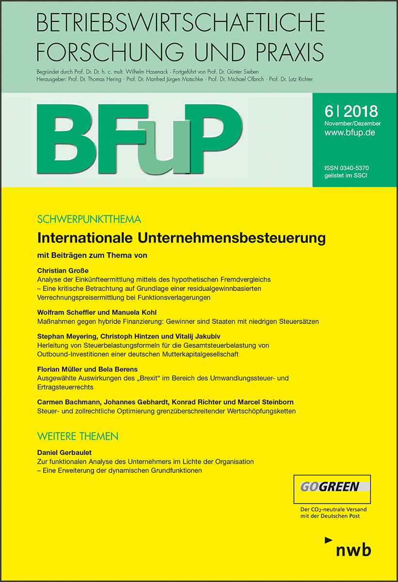 Internationale Unternehmensbesteuerung
