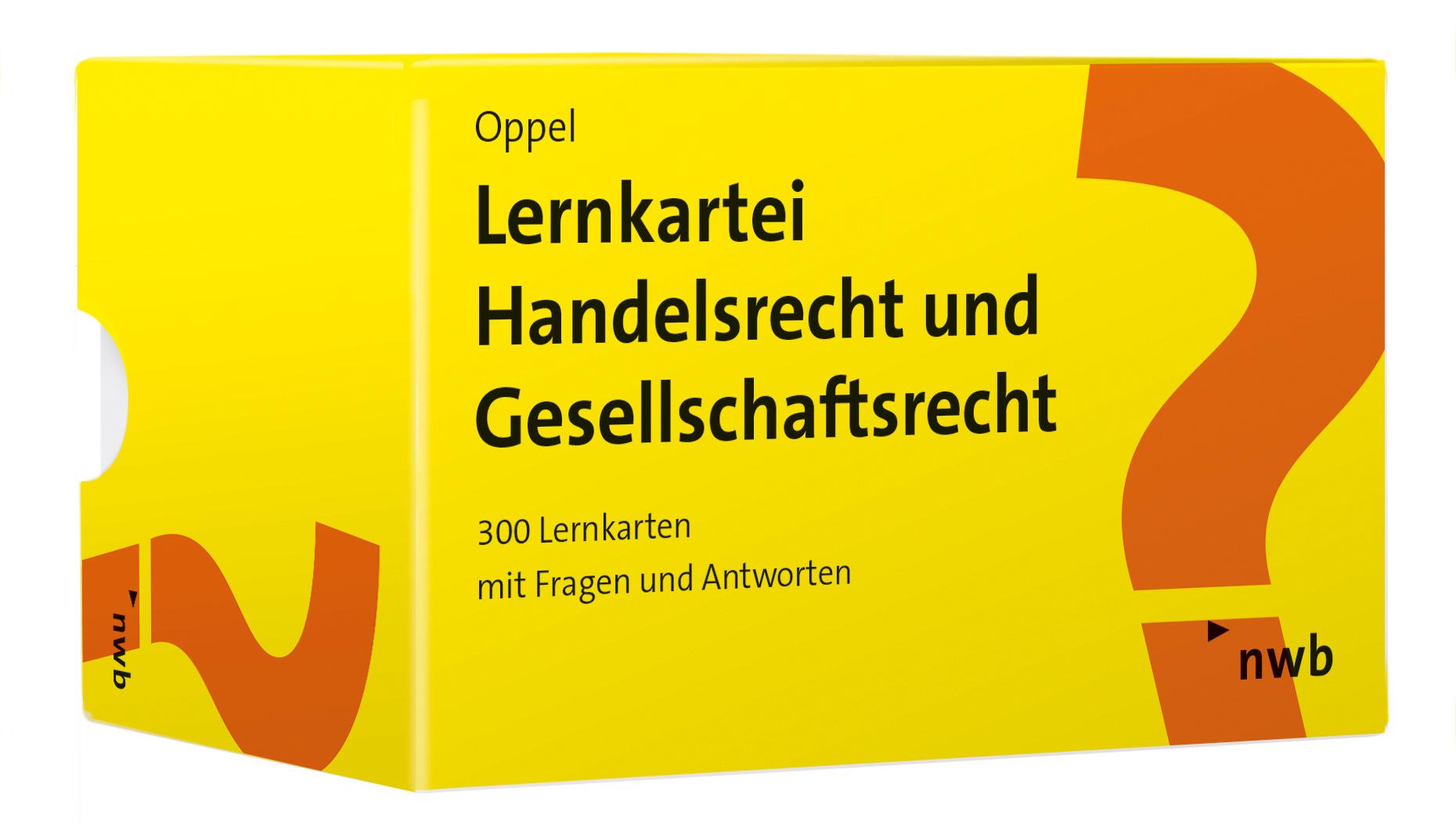 Lernkartei Handelsrecht und Gesellschaftsrecht