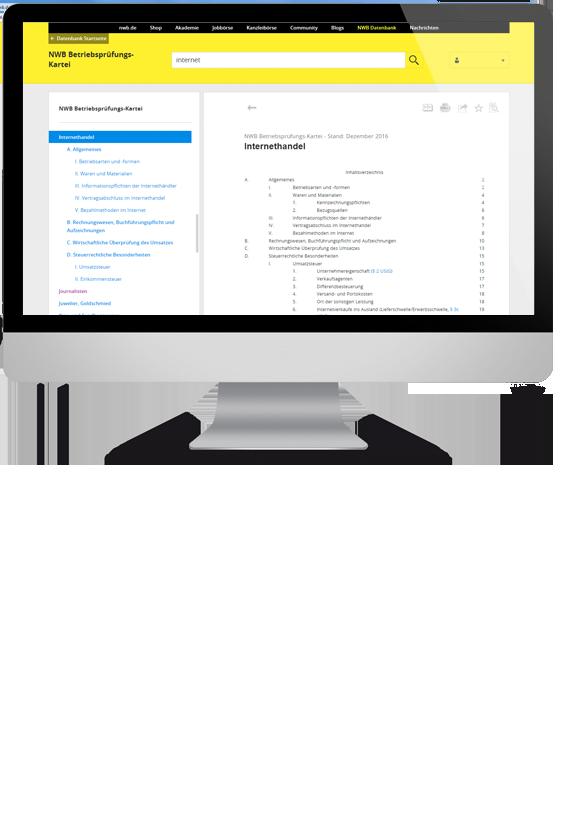 NWB Betriebsprüfungs-Kartei online