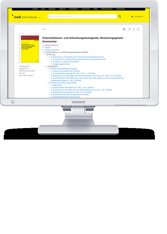 Erbschaft- und Schenkungsteuergesetz, Bewertungsgesetz (Auszug), Kommentar online
