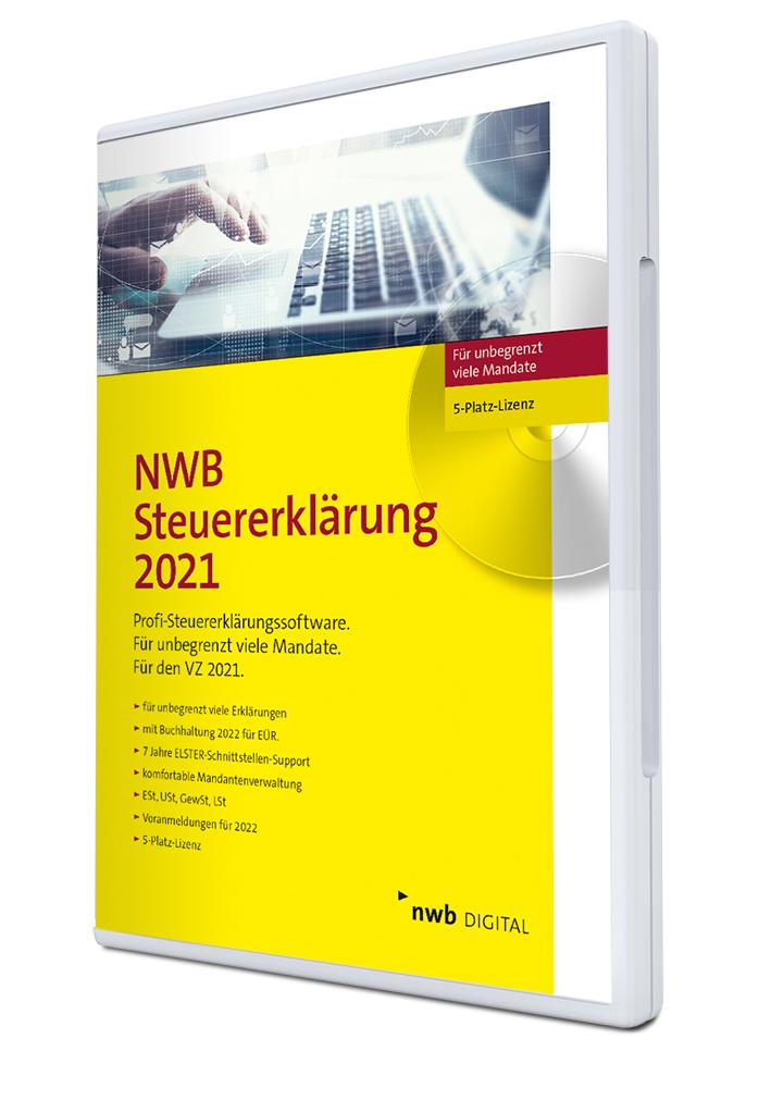 NWB Steuererklärung 2021 - 5-Platz-Lizenz