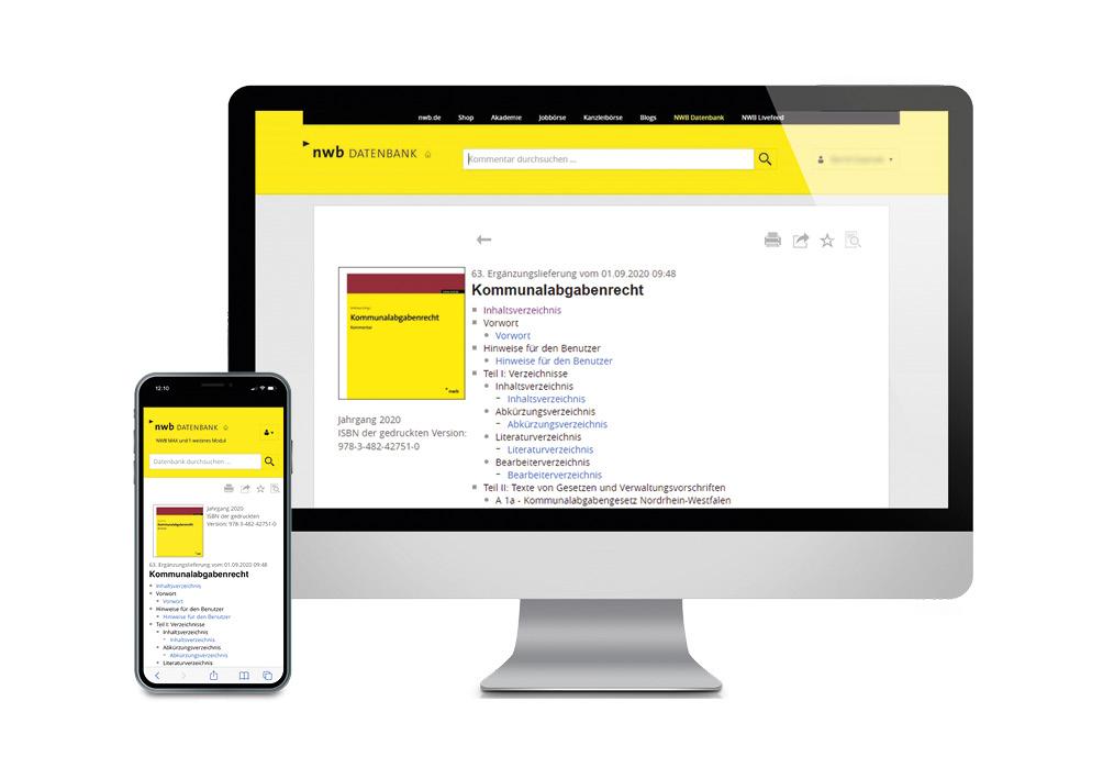 Kommunalabgabenrecht online