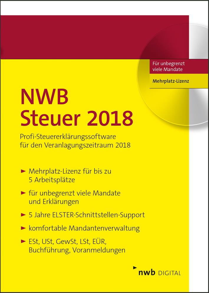 NWB Steuer 2018 - Mehrplatz-Lizenz