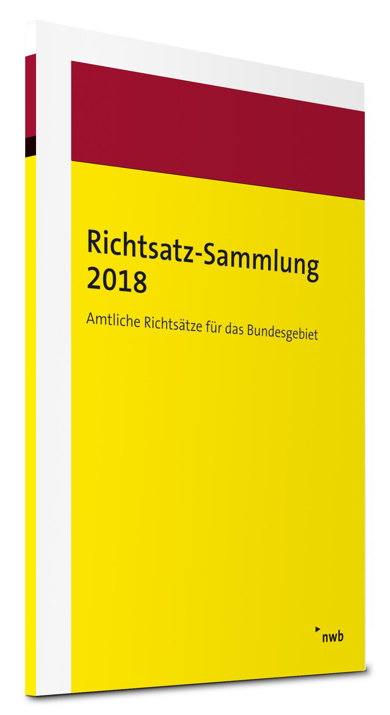 Richtsatz-Sammlung 2018