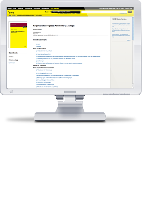 Körperschaftsteuergesetz Kommentar online