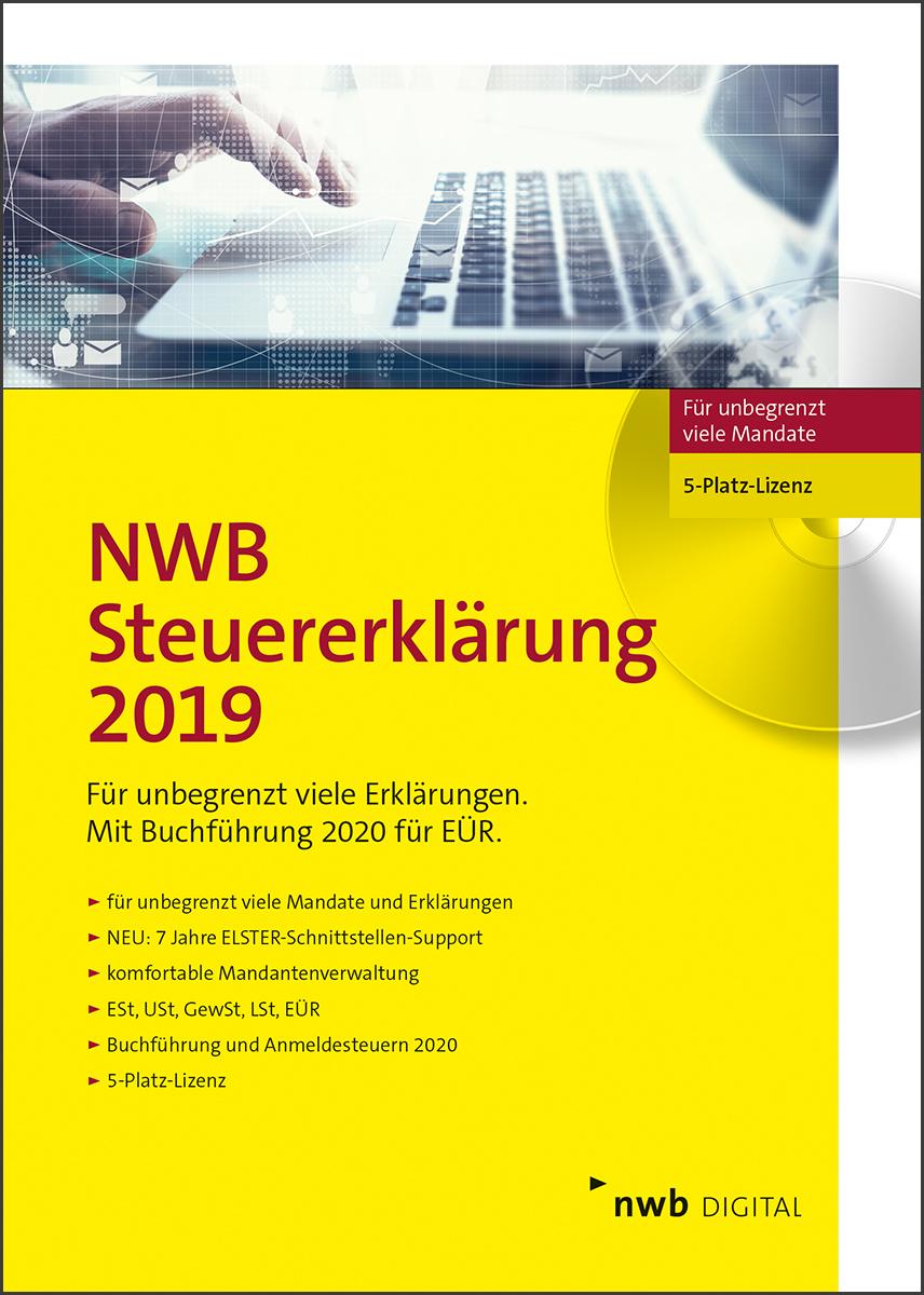 NWB Steuererklärung 2019 - 5-Platz-Version