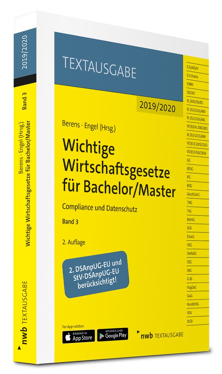 Wichtige Wirtschaftsgesetze für Bachelor/Master, Band 3
