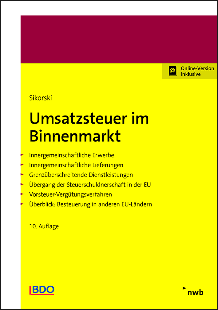Umsatzsteuer im Binnenmarkt